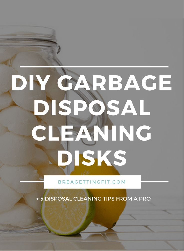 Clean your garbage disposal regularly with this DIY recipe. Smelly odors don't stand a chance!