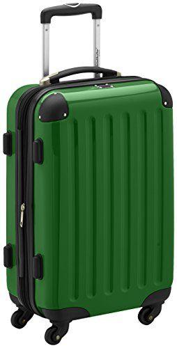 HAUPTSTADTKOFFER - Alex - Handgep�ck Hartschalen-Koffer Trolley Rollkoffer Reisekoffer Erweiterbar, 4 Rollen, TSA, 55 cm, 42 Liter, Gr�n