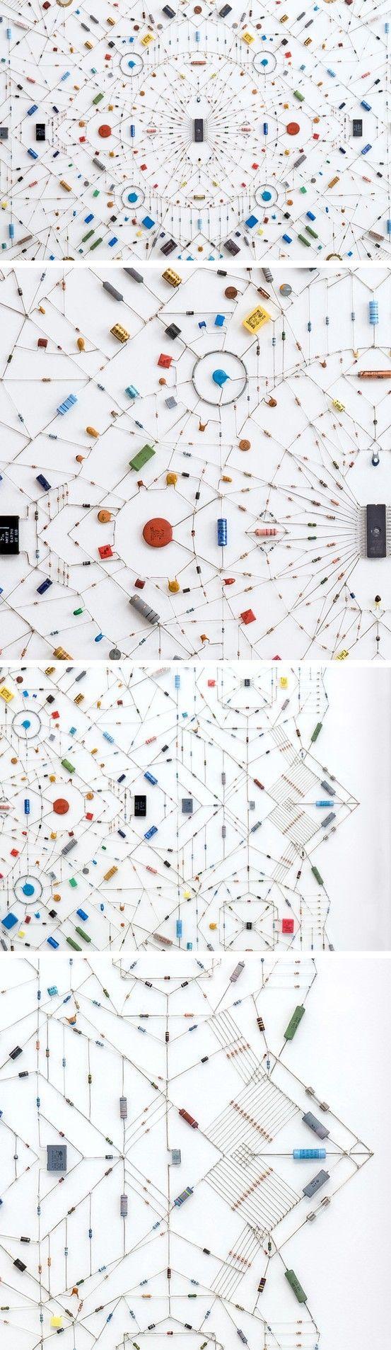 Technological mandala by Leonardo Ulian