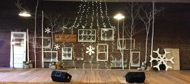 Reclaimed Christmas Stage Design - elements we can use in hoarding sermon series