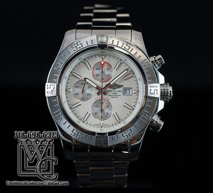 BREITLING SUPER AVENGER II WHITE DIAL MODEL A1337111 STEEL 48MM MINT SUPER DEAL