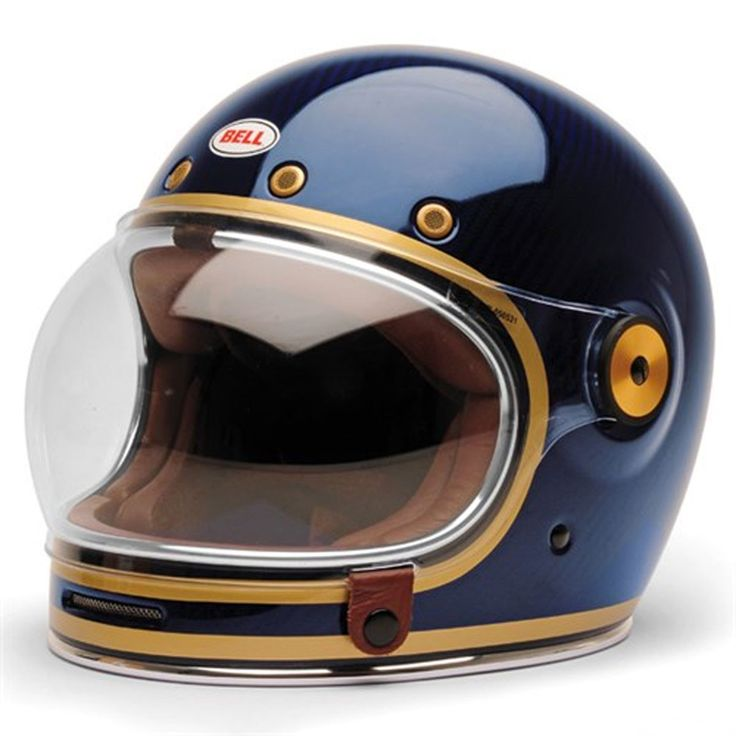 Bell Bullitt Carbon Candy Blue full face helmet main