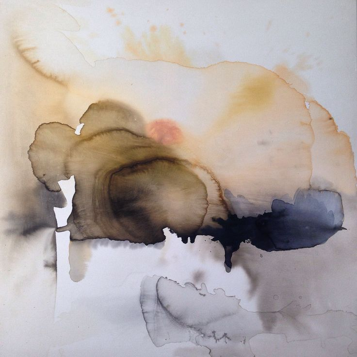 100x100 cm water and colours in canvas. Ilaria Franza AkA Ile de France