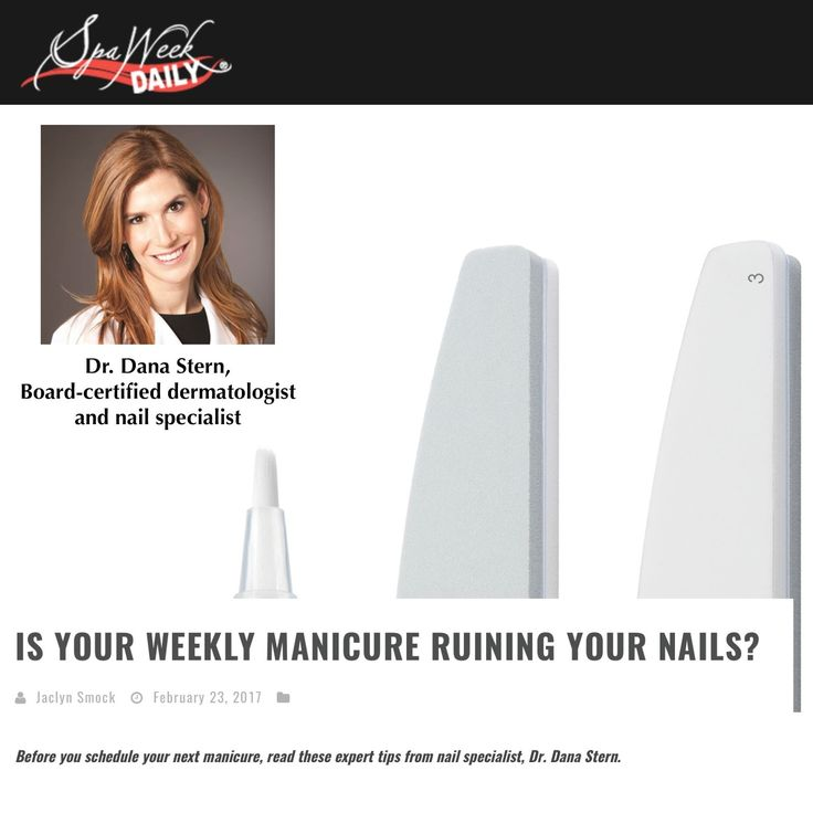"""Thank you so much @spaweek ! Thrilled about this feature written by the amazing Jaclyn Smock: """"There's nothing we love more than escaping to the nail salon for a fresh manicure and pedicure. But did you know always having nail polish on your fingers and toes, can lead to weak nail, discoloration and dryness? We spoke to renowned nail specialist, Dr. Dana Stern to learn more about the consequences of our standing nail appointments and how to avoid future damage."""""""