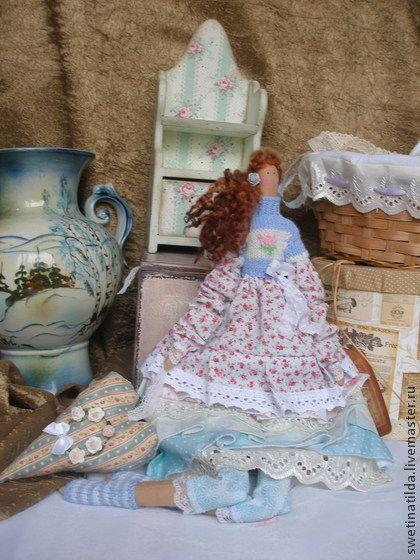 по мотивам Ноеми(резерв.) - бирюзовый,кукла ручной работы,тильда,саше