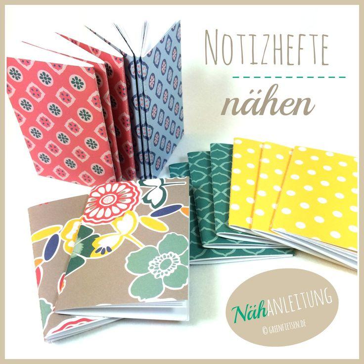 Upcycling | Notizhefte nähen aus Postkarten / Sewing notebooks from postcards
