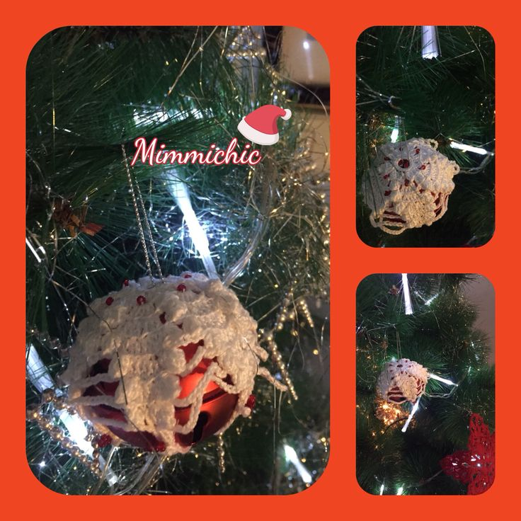 Addobbi per albero Natale uncinetto