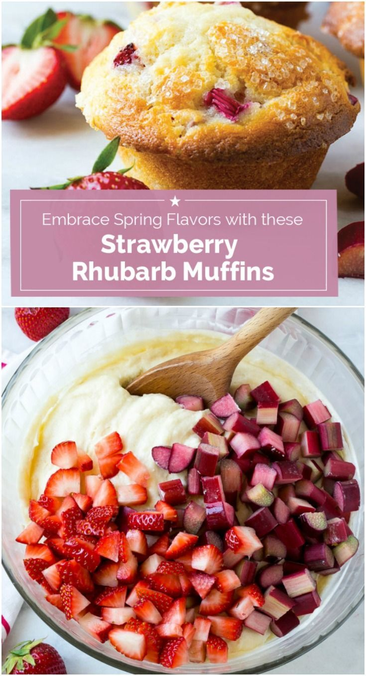 The secret ingredient for these fluffy strawberry rhubarb muffins here is Greek yogurt! Try this tip with other flavors and you'll be known as the Muffin Queen.