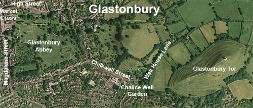 Travel is Awesome! - Map of Glastonbury, England