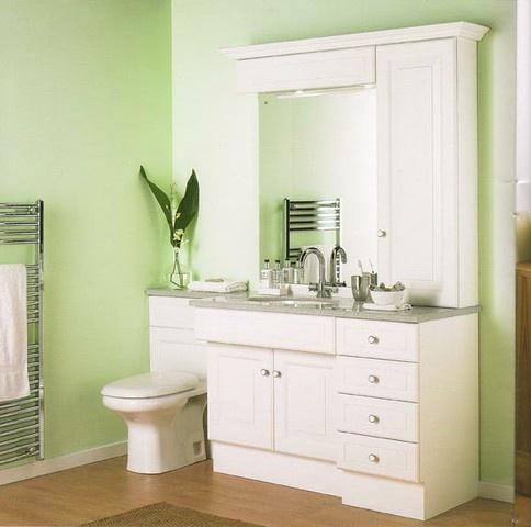 For my mom- Light green bathroom