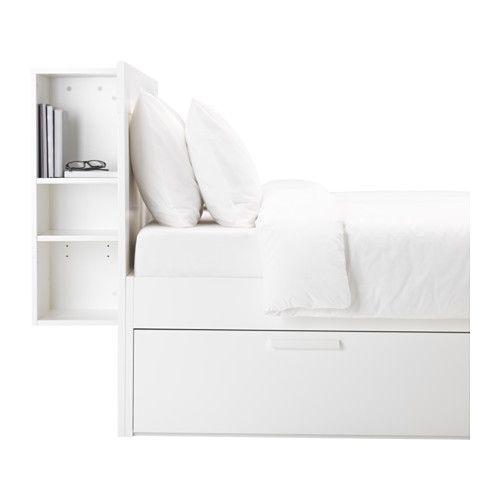 BRIMNES Bed frame w storage and headboard - Standard Double - IKEA