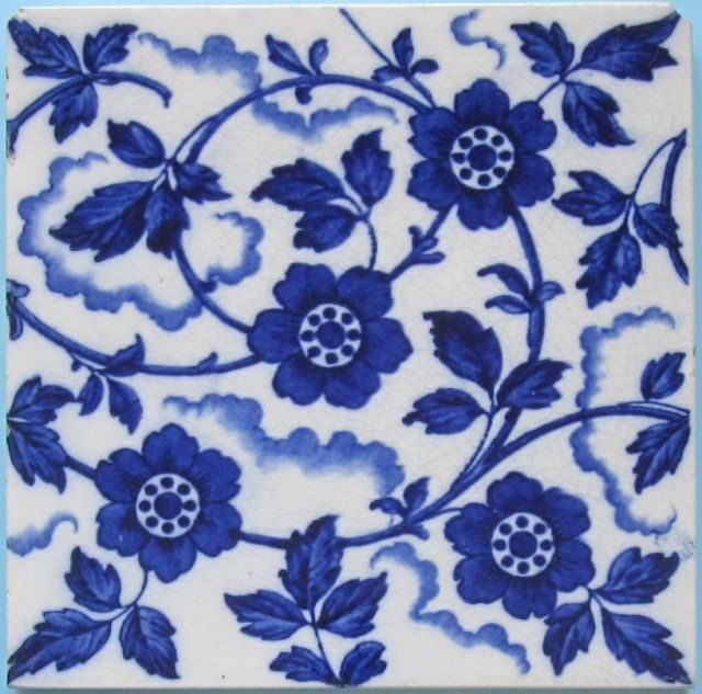 Antique English Wedgwood Transfer Tile