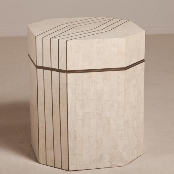 Talisman A Tessellated Stone Octagonal Chest by Maitland Smith 1980s -