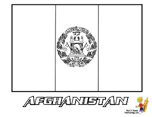 Afghanistan Flag Coloring Pages at http://www.YesColoring.com