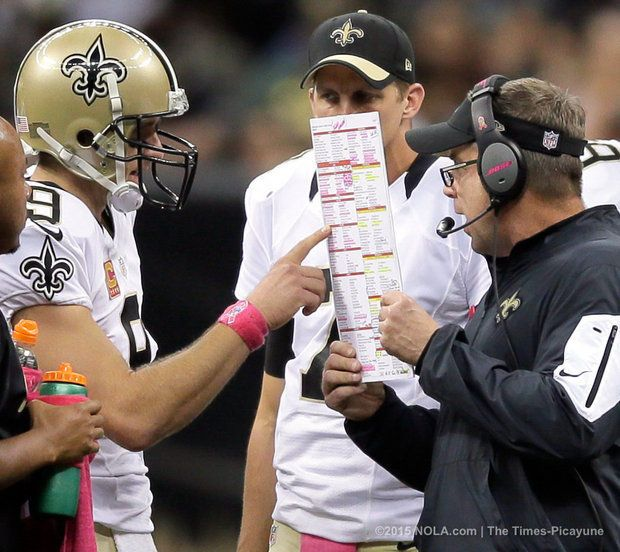 Sean Payton talks about Drew Brees' return from injury, young defenders: Podcast -    Brees and Payton, Saints vs Cowboys 2015
