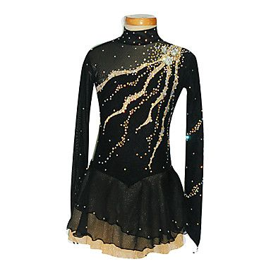 Ice Skating Dress Women's / Girl's Long Sleeve Skating Skirts & Dresses Figure Skating Dress Spandex Black Skating WearPerformance / 1613269 2017 – $111.99