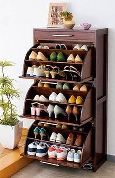 Organizador de Madera para zapatos DIY ~ cositasconmesh                                                                                                                                                                                 Mais