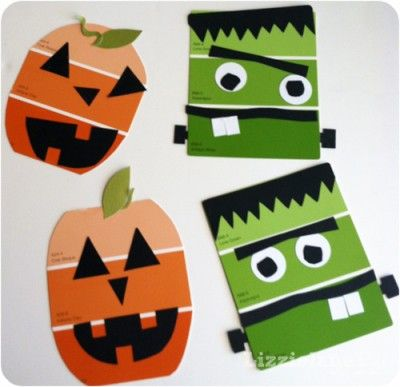 Paint Chip Halloween Craft - Why do I love these paint-chip crafts so much? I guess it's my inner green girl coming out. I love a creative use of something that usually just gets thrown away.