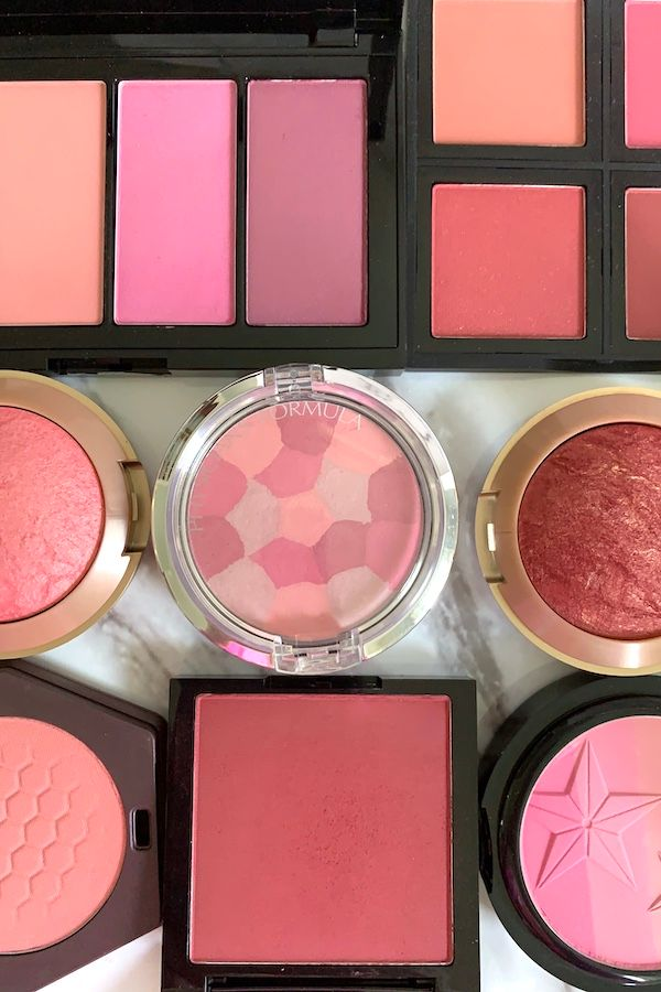 Pink, Rose and Wine Drugstore Blushes