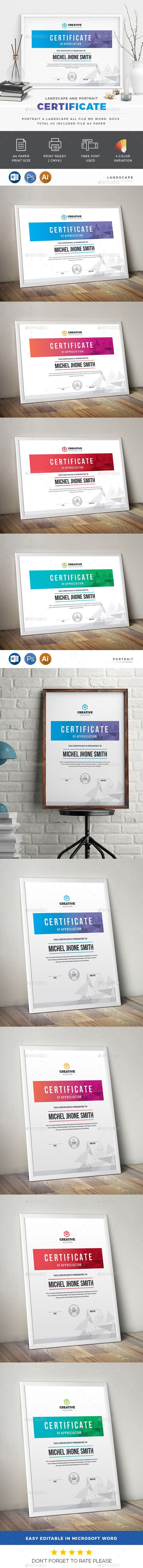 #Certificate - #Certificates Stationery Download here: https://graphicriver.net/item/certificate/20340518?ref=alena994