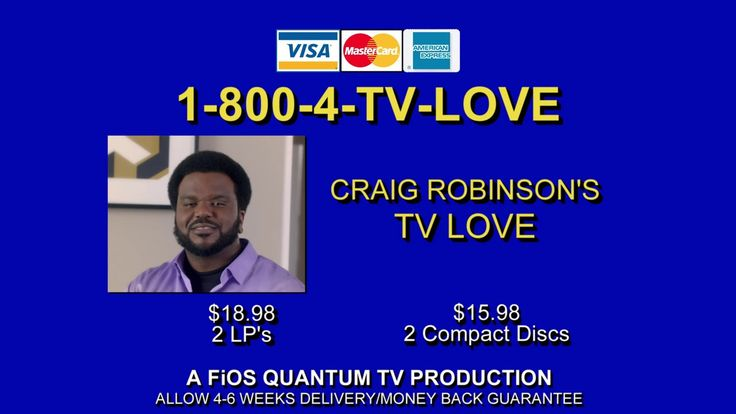 Actor-comedian Craig Robinson sings a collection of love ballads dedicated to the new love in his life...Verizon FiOS.