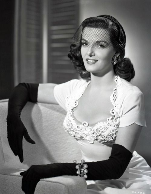 Happy Birthday Ernestine Jane Geraldine Russell (21 June 1921 28 February 2011)!! She is better known as a sex symbol of the 40s and 50s and an actress. She got her big break in the film The Outlaw but is probably best known for her role in Gentlemen Prefer Blondes. Some of her co-stars included Richard Widmark Clark Gable Frank Sinatra Robert Ryan and Robert Mitchum along with Jeanne Crain Marilyn Monroe and Eleanor Parker.