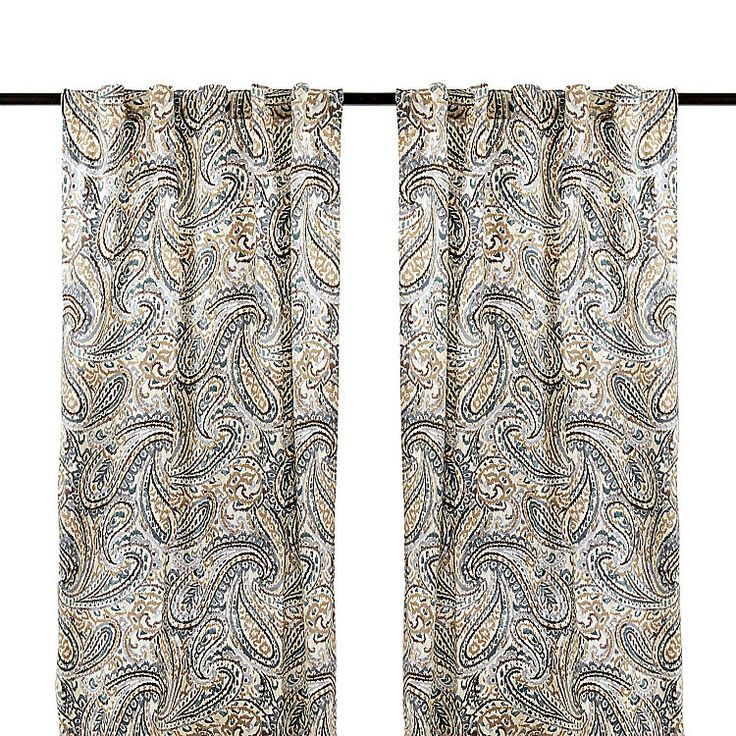 Ocean Vienna Paisley Curtain Panel Set, 96 in. | Kirklands