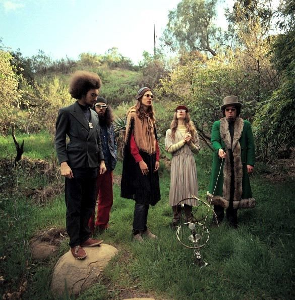 Captain Beefheart and the Magic Band Photo taken in February 1969 in the grounds of the house in Woodland Hills, California where Trout Mask Replica was written, rehearsed and part-recorded. —