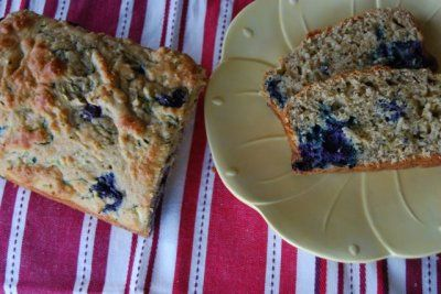 recipe image Lemon Blueberry Zucchini Bread. Low sugar (sub banana and honey), no oil, low AP flour.