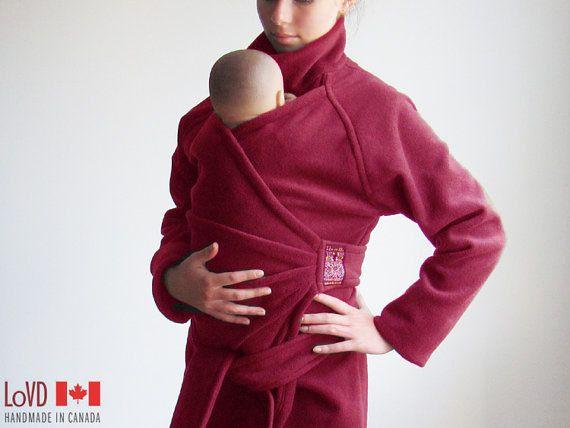 Maternity. Babywearing. Coat. Jacket. Baby Wearing. SHIPS TODAY. Baby Wearing Jacket. Sling. Carry Coat. Wrap Coat. Made in CANADA.. $163.00, via Etsy.
