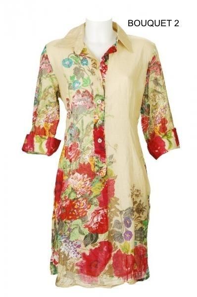 Vestido Camisero Bouquet II, Vestidos camiseros - Ropa de viaje, ropa de crucero, ropa de vacaciones - Travel Wear Miro