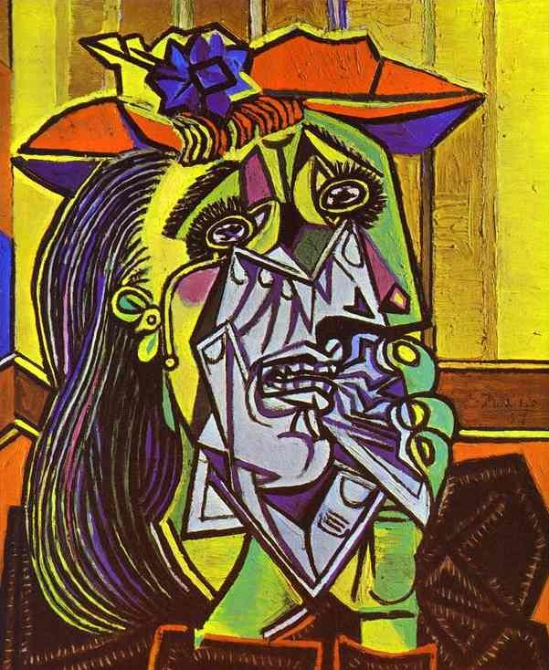 Picasso, Pablo | The Weeping Woman (Femme en pleurs) | 1937 | Oil on canvas | 60.8 x 50.0 cm | Tate Gallery, London, Great Britain