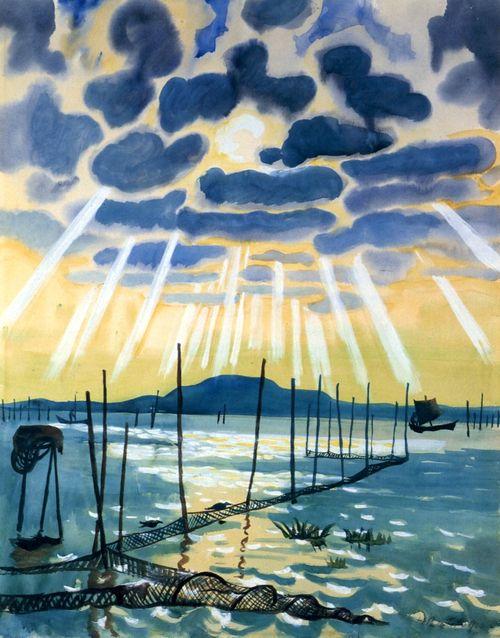 Max Pechstein (German, 1881-1955, shown in the Nazi 'Degenerate Art' Exhibit)