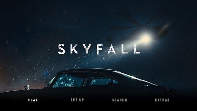 Skyfall Blu-ray play menu