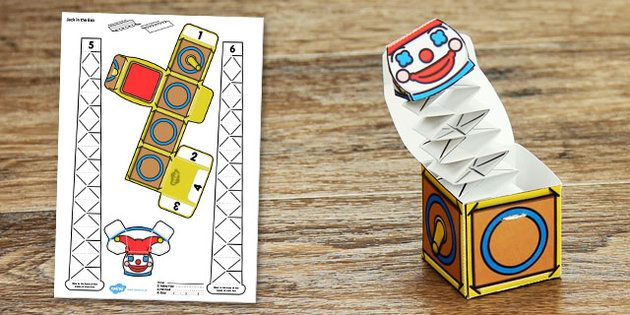 Victorian Toys Jack in the Box Paper Model - victorian, toys, jack in the box, paper model, craft