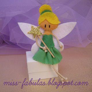 Doll brooch #Tinker #Bell handmade in felt. Broche muñeca #Campanilla hecho a mano en fieltro.