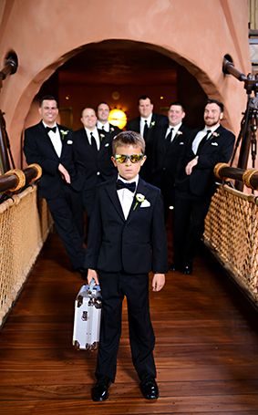 Ring bearer at Disney's Animal Kingdom Lodge takes wedding ring security very seriously