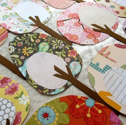 Handmade Trees I Should Make Up A Ton Of These From All My scrap Paper #scrapbook #paper #crafts