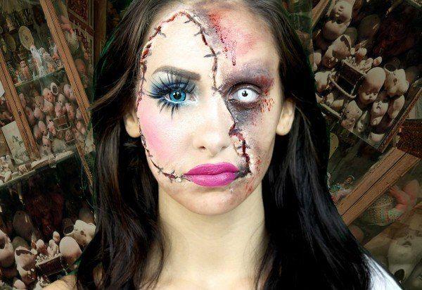 Imagen maquillajes-de-terror-para-halloween-2014 del artículo Fotos de Maquillaje de Halloween fácil para mujer 2017 | Paso a paso