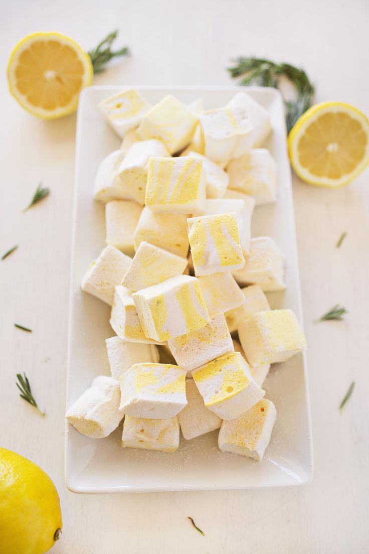 Lemon and Rosemary Marhmallows (via http://abeautifulmess.com)
