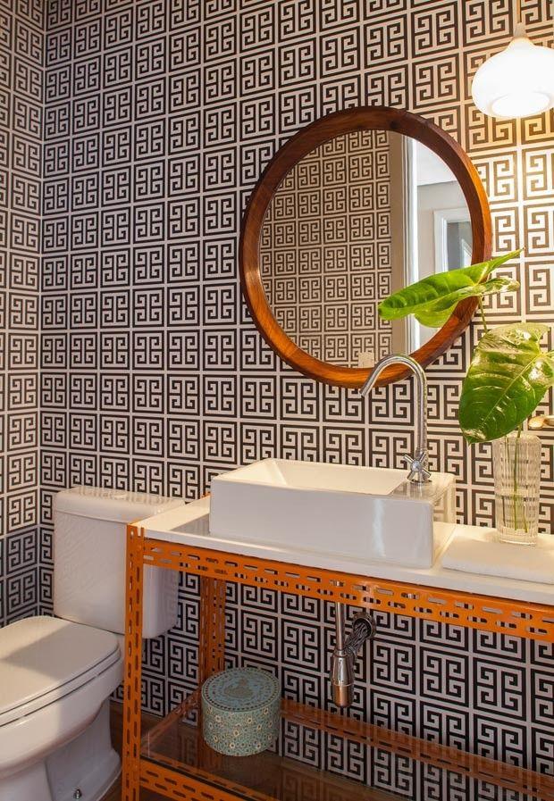 lavabo-papel-de-parede-Mauricio-Arruda (Foto: Victor Affaro/Editora Globo)