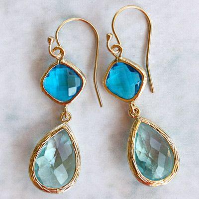 Something Blue1 La Mer Cozumel and Aqua Gold Earrings @Layla Grayce #laylagrayce #weddings
