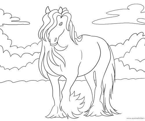 Ausmalbilder Pferde 6