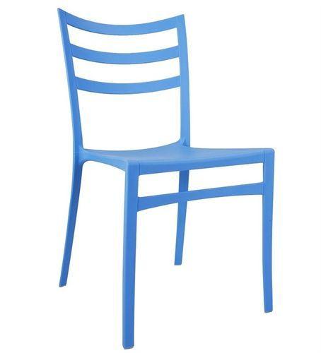 Silla Azores de polipropileno, apilable, color azul #sillas #diseno #plastico #hosteleria #jardin www.superdeco.es