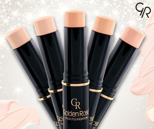Kolay kullanımlı ve gün boyu kalıcı, kusursuz bir görünüm için Golden Rose Stick Foundation! http://bit.ly/GRStickF