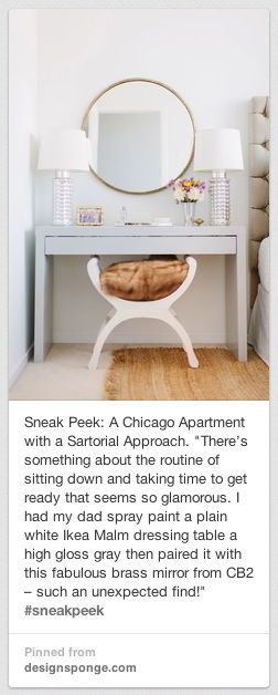Ikea Hack - desk into vanity! | The Pinterest Project