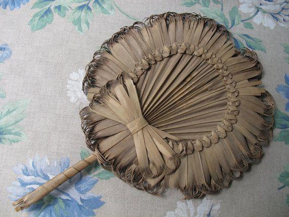 Antique Handmade Palmetto Leaf Fan South Carolina by BettyandBabs, $45.00