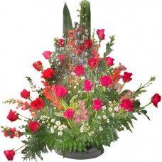 Ramo ABANICO - Precio $104,400   Consiga los mejores Arreglos Florales de Bogotá en http://www.BodegonDeLasFlores.com