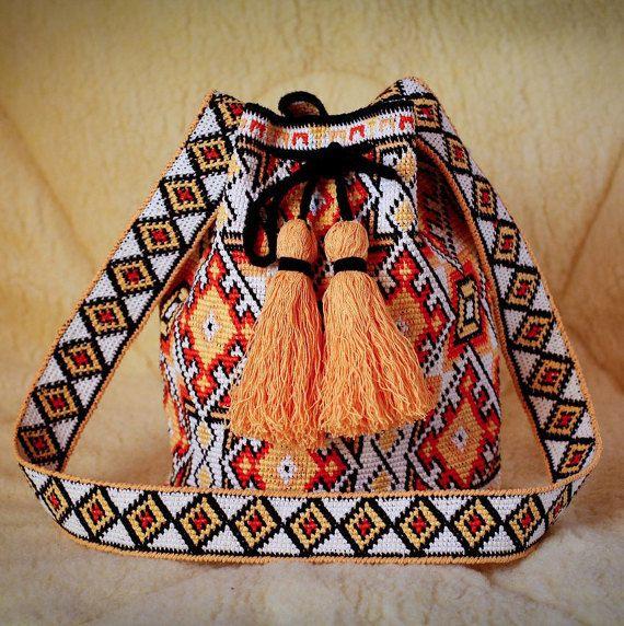 Modern mochila bag wayuu tecnique handmade Boho от SchastlyvaTorba