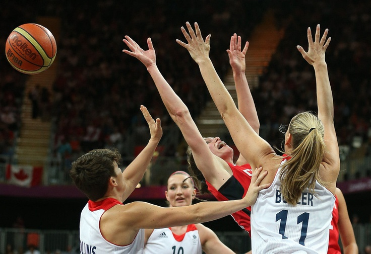 After scoring 20 points against Russia, Kim Smith drew a crowd, as Canada defeated Great Britain 73-65 in the women's basketball tournament at the London 2012 Olympic Games, July 30, 2012.